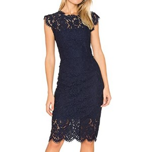 MEROKEETY Women's Lace Floral Dress for Party  - Best Dress for Reception Party: A must-have classic piece