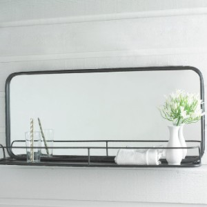 Shades of Light METAL MIRROR WITH SHELF - Best Mirror for Bathroom: A Great Choice for A Small Bathroom