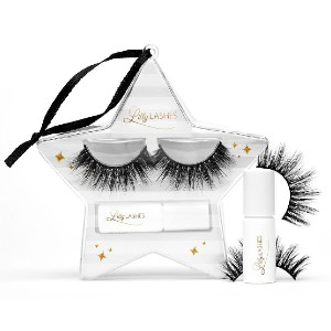 Lilly Lashes MIAMI HOLIDAY ORNAMENT - Best Lashes for Hooded Eyes: Stays Under The Mistletoe