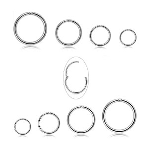 Milacolato Improved Hinged Clicker Rings  - Best Jewelry for Daith Piercing: Stylish without too showy