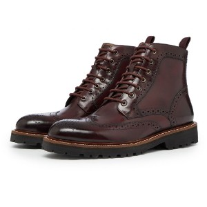 Oliver Sweeney MILBROOK BURGUNDY - Best Boots with Jeans: Antique Leather Brogue Boot