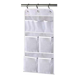 MISSLO Hanging Mesh Pockets Hold - Best Bathroom Organizer: Simple and washable