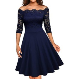 MISSMAY Women's Vintage Floral Lace Dress  - Best Party Dresses for Teenage Girl: A mix of sophistication and elegance