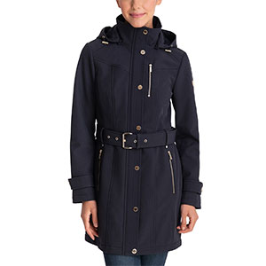 Michael Kors Hooded Belted Raincoat - Best Raincoats for Petites: Expensive and Agreeable to The Eye