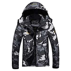 MOERDENG Men's Waterproof Ski Jacket - Best Raincoats for Iceland: Keeps you warm forever