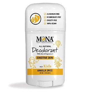 MONA All Natural Deodorant for Kids - Best Deodorant for Kids: Gentle on Skin with No Itching