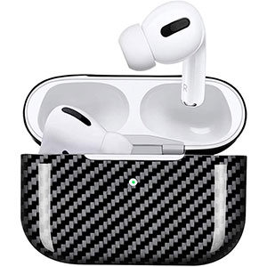 MONOCARBON Genuine Carbon Fiber Case Compatible for New AirPods Pro  - Best Airpods Pro Case: Reliable Quality and Advanced Material