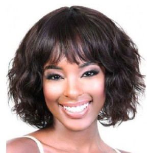 Vogue Wigs MOTOWN TRESS KARA - Best Human Hair Wigs for African American: Full Feathered Fringe