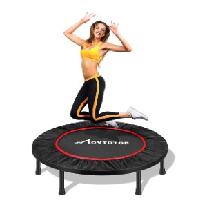MOVTOTOP Mini Trampoline 38/40 Inch - Best Trampoline for Exercise: Sturdy, stable, and safe