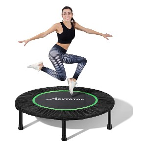 MOVTOTOP Mini Trampoline 38/40 Inch - Best Home Trampoline for Adults: Sturdy, stable, and safe