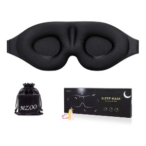 MZOO 3D Contoured Cup Sleeping Mask & Blindfold - Best Sleep Mask for Night Shift Workers: Machine-Friendly Eye Mask