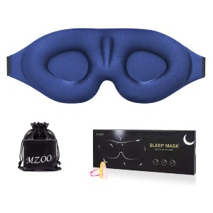 MZOO 3D Contoured Cup Sleeping Mask & Blindfold - Best Eye Cover for Sleeping: Contoured Cup Eyes Cover