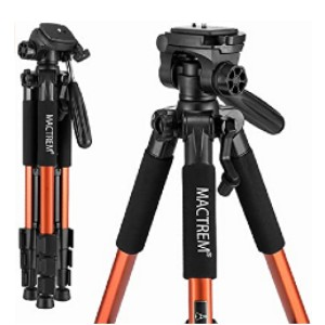Mactrem PT55 Travel Camera Tripod - Best Tripods for Landscape Photography: Uneven terrain is no problem