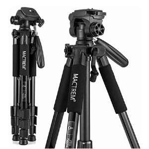 Mactrem PT55 Travel Camera Tripod - Best Portable Tripods for DSLR Camera: Attach and detach in seconds