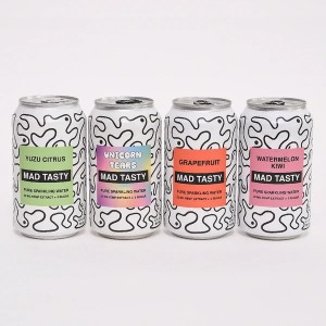 Mad Tasty MIXED CASE (12 CANS) - Best CBD Infused Beverages: Sugar-Free Drink