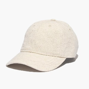 Madewell Cotton-Linen Baseball Cap - Best Baseball Caps for Women: Cap with Adjustable Leather Back Strap