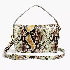 Madewell The Flap Convertible Crossbody Bag in Snake Embossed Leather - Best Crossbody Leather Bags: Stunning Snakeskin Leather Bag
