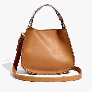 Madewell The Sydney Crossbody Bag: Snake Embossed Leather Edition - Best Crossbody Leather Bags: Perfect Size Crossbody Bag
