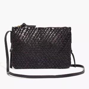 Madewell The Knotted Crossbody Bag in Woven Leather - Best Crossbody Leather Bags: Sleek Crossbody Bag