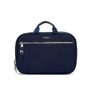Tumi VOYAGEUR Madina Cosmetic - Best Makeup Case for Travel: Three Transparent Interior Compartments
