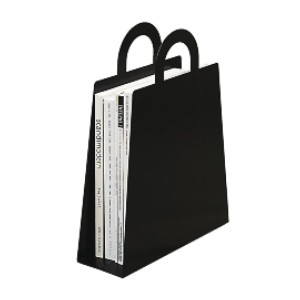 Maze Magbag Magazine Rack, Black - Best Magazine Storage: Great piece for shopaholics