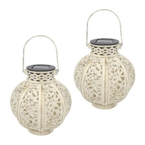 Maggift 2 Pack Hanging Solar Lights Outdoor - Best Outdoor Lanterns: Powered by Solar