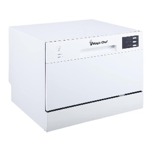 Magic Chef MCSCD6W5 6 Plate Countertop Dishwasher - Best Dishwasher Under 500: Does the dirty work in style