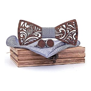 Generic Men's Wood Bow Tie  - Best Bow Ties on Amazon:  Stand out from the crowd
