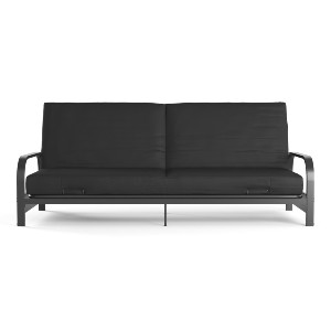 Mainstays Metal Arm Futon - Best Futons for Small Spaces: Assembles Quickly and Ships in One Box
