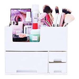 Elever Stackable Make up Organizers - Best Bathroom Organizer: Sturdy and easy to open