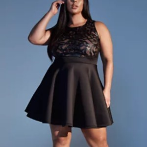 Fashion to Figure Malia Flare Dress - Best Party Dress for Plus Size: Perfect for night out look