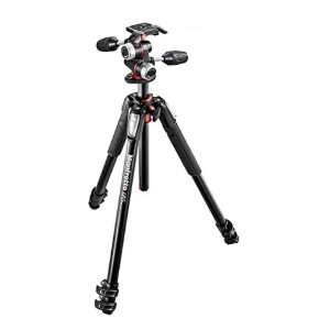 Manfrotto 055 Aluminum Tripod Kit  - Best Tripods for Food Photography: Get a precision capture