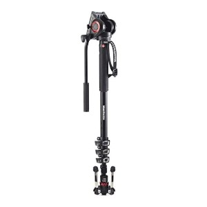 Manfrotto Xpro Aluminum Video Monopod with 500 Series Video Head - Best Monopods for Travel Photography: Super-fast Configuration Monopod