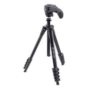 Manfrotto Compact Action Aluminum - Best Tripods for Video Camera: Grip-friendly panhandle
