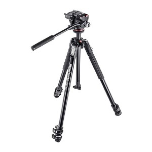 Manfrotto MK190X3-2W Aluminum 3-Section Tripod Kit - Best Tripods for Video Camera: Attach several accessories