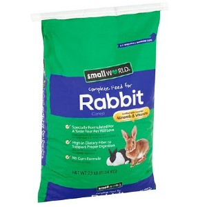 Manna Pro  Small World Complete Rabbit Food - Best Rabbit Food for Gain Weight: High-Fiber Food