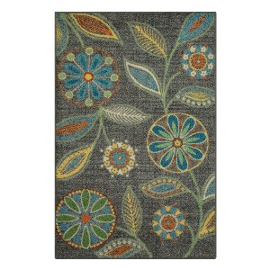 Maples Rugs Reggie Floral Kitchen Rugs - Best Entry Rug for Hardwood Floor: Stands the test of time