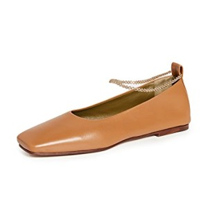 Maria Luca Augusta Ballerina Flats - Best Leather Flats: Classy Flats with Chain Straps