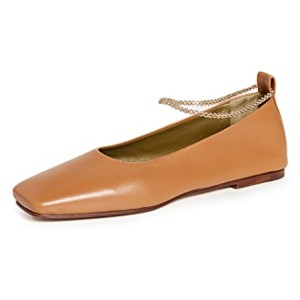 Maria Luca Augusta Ballerina Flats - Best Flat Shoes for Women: Flat with Chain Strap