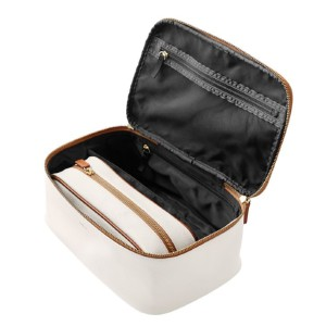 Mark & Graham CONCOURSE 2-IN-1 COSMETICS CASE - Best Makeup Organizer Bag: Portable Storage Bag Plus One Small Pouch