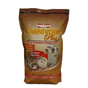 Marshall Carnivore Plus High Protein Diet Ferret Food - Best Ferret Food for Smell: Nutritious Chicken Protein Source