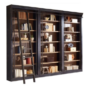 Martin Main Martin Furniture Toulouse 3 Bookcase Wall - Best Bookshelves for Home Library: Metal Ladder and Track