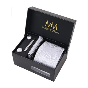 Massi Morino Necktie Set - Best Ties for White Shirts: Completes your styling needs