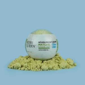 Kush Queen Matcha CBD Bath Bomb - Best Bath Bomb for Relaxing: Handmade with the Highest Quality Ingredients