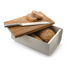 Alessi Mattina breadbox, grey - Best Storage Containers for Kitchen: For bread lovers