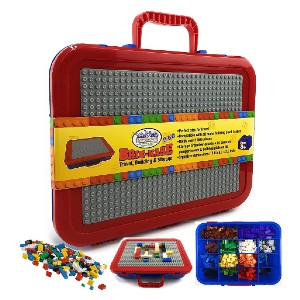 Matty's Toy Stop Brik-Kase 2-GO  - Best Storage Container for Legos: Build and store in one