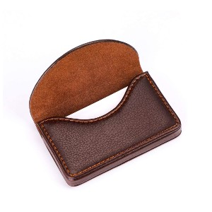 MaxGear Leather Business Card Holder Case - Best Business Card Holders: Small Size with Large Capacity