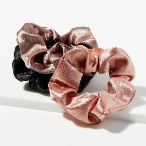 Simons Maxi satiny scrunchies - Best Silk Scrunchies: Satiny Weave Over Strong Elastic