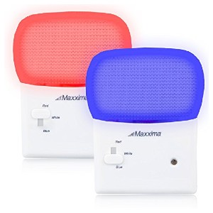 Maxxima Multi-Color LED Night Light - Best Night Light for Sleep: Change the light color per your preferences