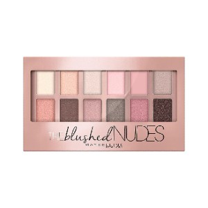 Maybelline The Blushed Nudes Eyeshadow Palette - Best Eyeshadow Palettes for Green Eyes: Nude Shades with Rose Gold Pigments